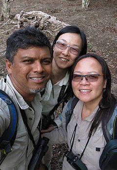 孫嘉雯在印尼北蘇拉威西省觀鳥