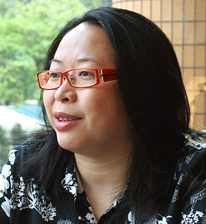 Winnie分享她營商之道及擔任義務工作的經驗。