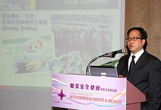 Peter獲邀於公務員事務局舉辦的「職業安全健康經驗分享會」演講。