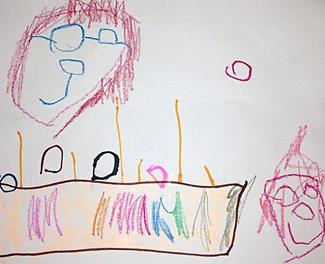 每次收到學生送給她的繪畫,Christy都非常高興