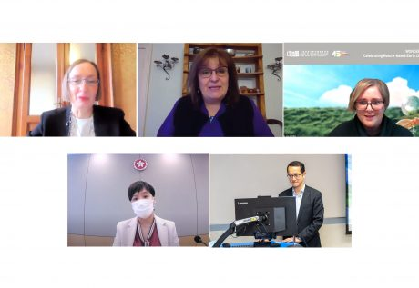 Keynote speakers of the conference include (top from left) Prof. Claudia GIUDICI, Dr. Claire WARDEN, Ms. Jena JAUCHIUS; (bottom from left) Ms. SO Yuen Yi, and Mr. LAI Chuen Chi.