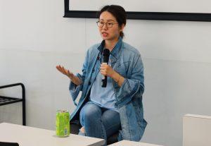 資深傳媒人暨專欄作家張寶華小姐與同學分享成為優秀YouTuber的要訣