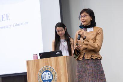 浸大持续教育学院总监(幼儿及基础教育)李南玉博士鼓励新生勇于面对挑战,才能成为出色的幼稚园教师。