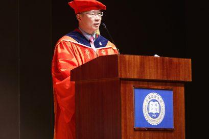浸大持續教育學院院長鍾志杰教授勉勵各畢業生努力裝備自己,在事業及個人發展上尋求突破,實現夢想。