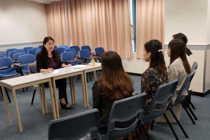 小組面試的考核內容包括經驗分享及情境解難,也會就與幼兒教育相關的時事進行討論。