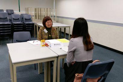 模擬面試由現職幼稚園校長擔任面試官,並就學員的個別表現提供具體的改善建議。