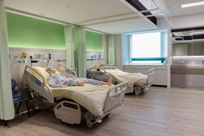 The well-equipped nursing skill laboratories have adopted the design of clinical environments of private hospitals.