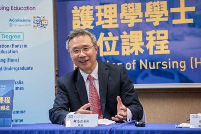 鍾志杰教授表示課程注入中醫護理元素,使護理教學更具特色。