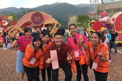 作為香港青年大使,學員曾參與香港許願節等大型盛事,眼界大開。