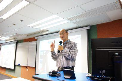 梁紀昌校長以「教育的初心、教心,和愛心」為題,與一眾學生及同工談教育之道。